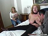 Bulky Granny Share delinquent jock With Her playmate