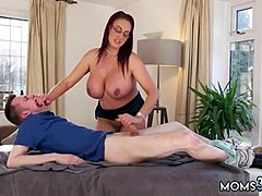 Hd kind blowjobbery ample Tit Step-Mom comes into a Massage