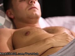 Huge tits Stepmom Sees Son's Bone and submits a Massage!