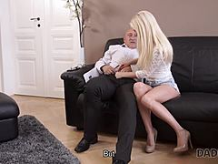 DADDY4K. Victoria doesn't live it up her boyfriend but is captivated by his daddy mature sex
