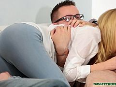 Light-haired dilettante adolescent Alina West gets hold of packed in With Cum