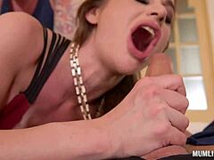 Mom posterior door cathy heaven goes passionate in double penetration group sex